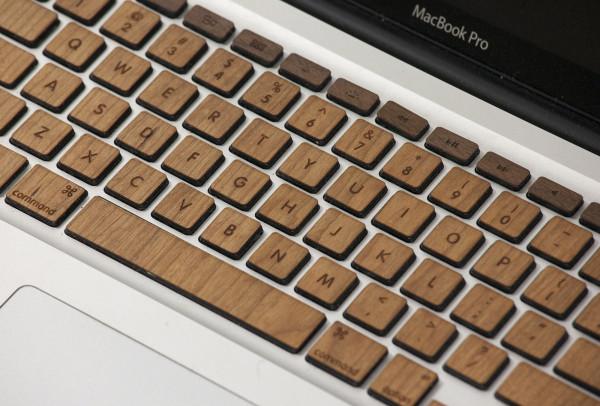 Glowforge wood veneer keyboard