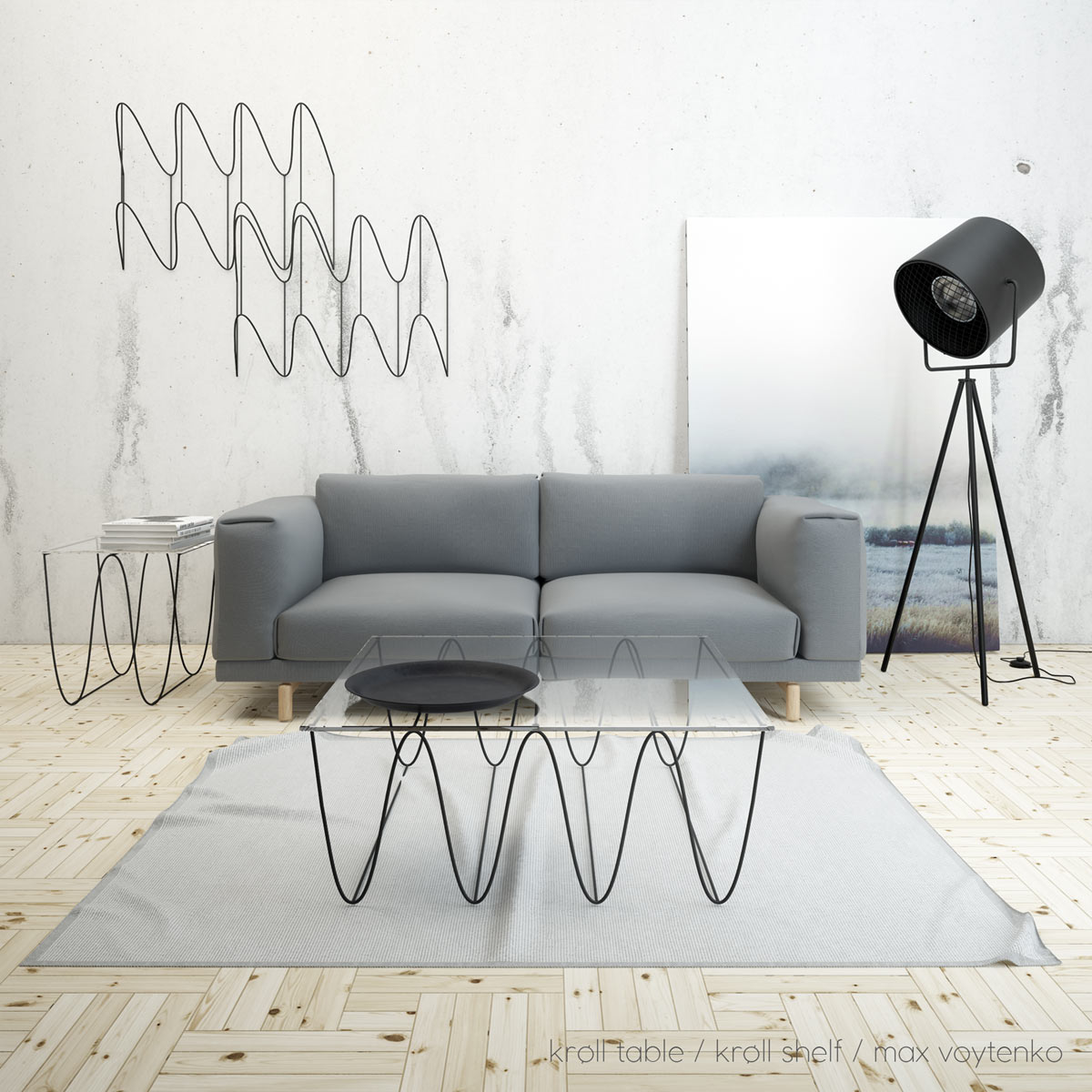 Undulating Shelves & Tables from Max Voytenko