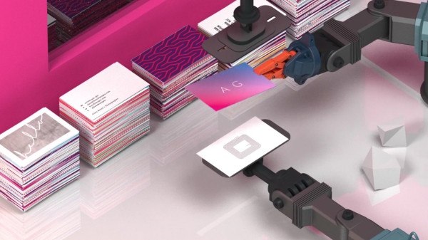 Moos new nfc enabled paper business cards design milk the fun begins when moo customers customize their business cards connecting a specific action with the nfc chip inside each card reheart Image collections