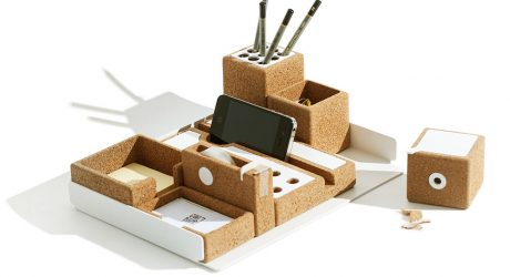 NIU Desk Accessories Made of Cork and Aluminum