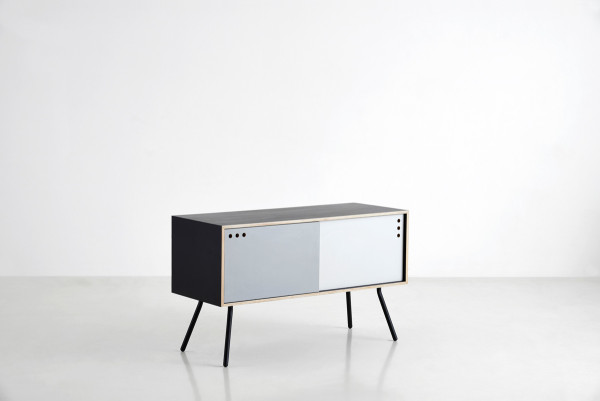 NUR_Geyma sideboard_black, mist & warm grey_WOUD