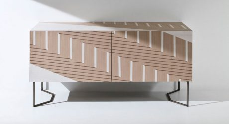 A Sideboard Inspired by Traditional Twill Fabric