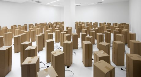 A Sound And Art Installation Created from 250 Cardboard Boxes