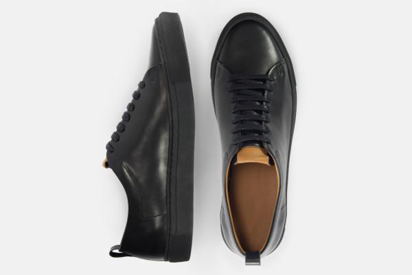 beckett simonon black sneakers top