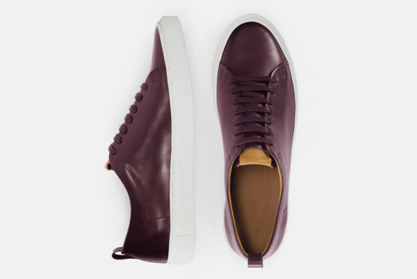beckett simonon burgundy sneakers top