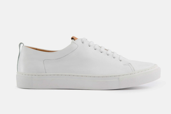 beckett simonon white sneakers profile