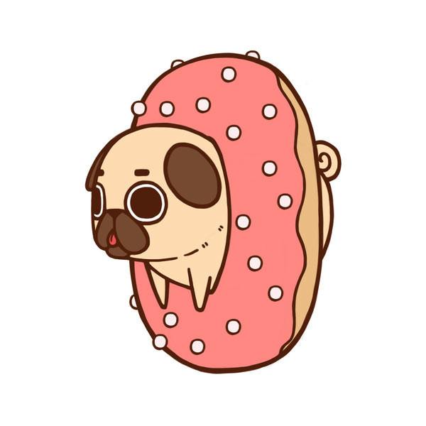 pug-donut-cute-design
