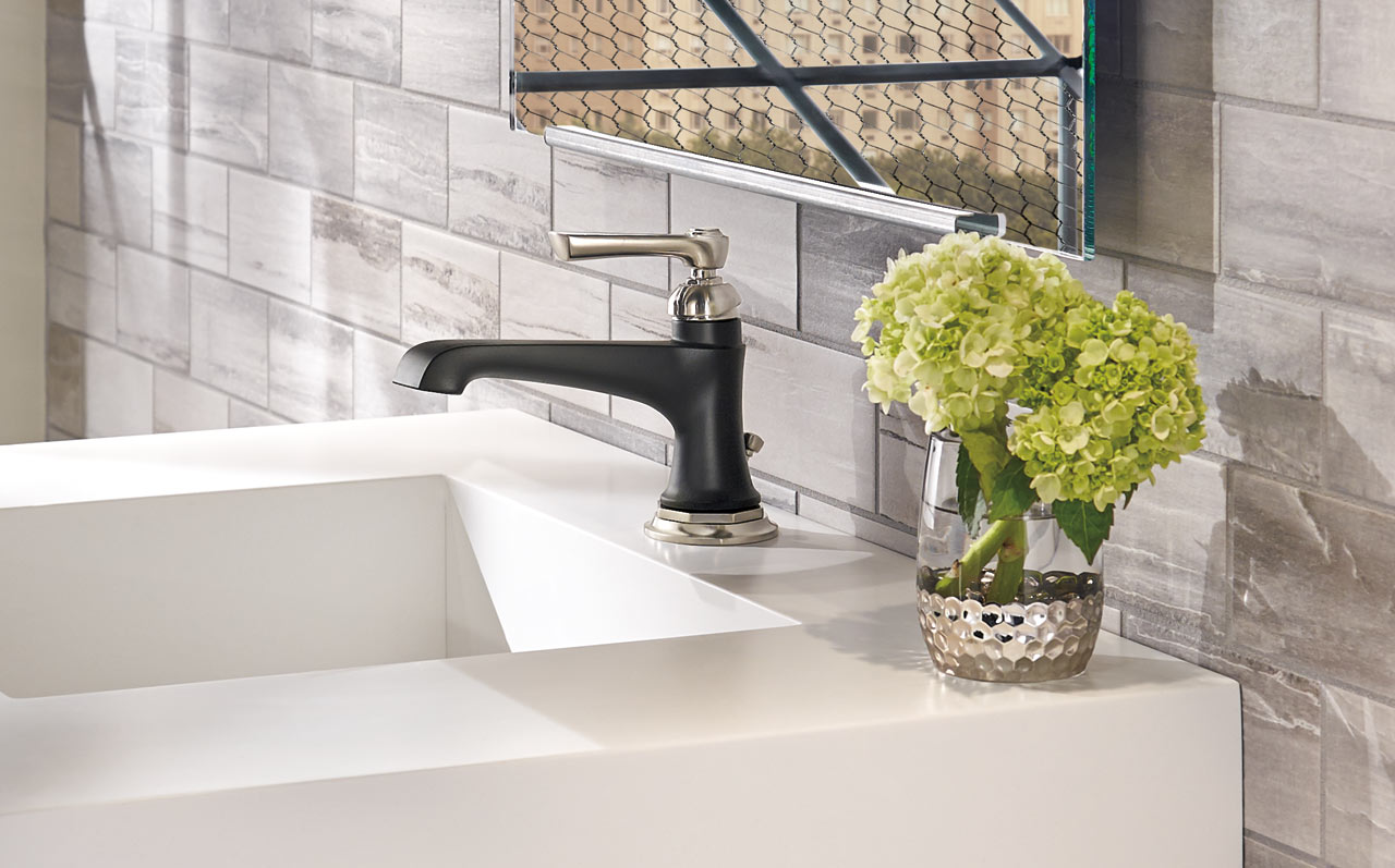Traditional Bathrooms how to mix modern + traditional in the bathroom - design milk