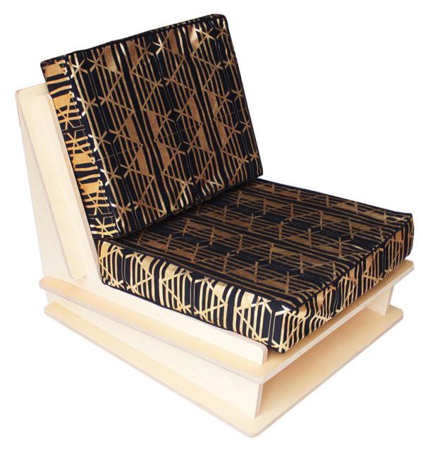 wolfum olga black metallic kids chair