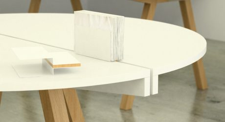 A Table that Holds Accessories in the Center