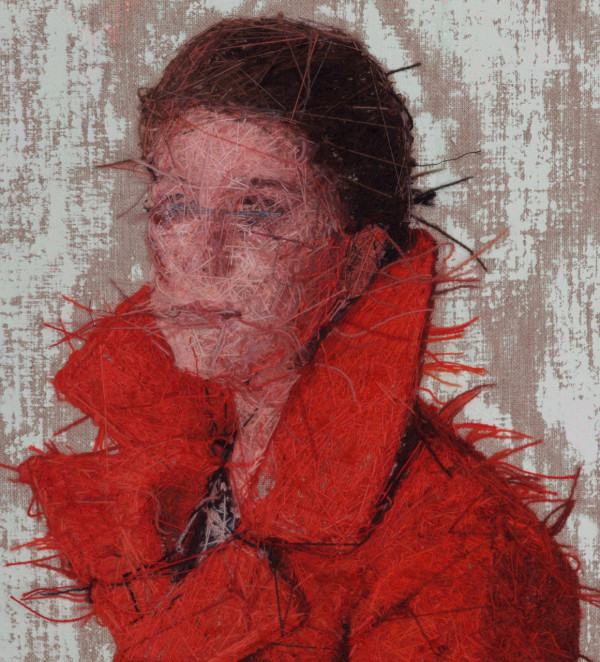 Verso detail: Raphaella in Her Winter Coat (After Alex)