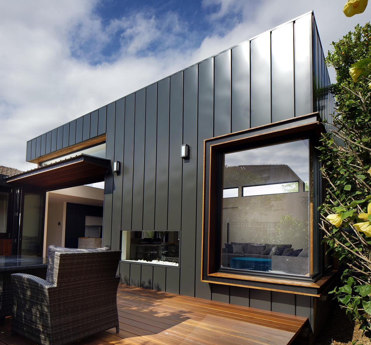 A renovation upgrades an art deco house design milk for Art deco house design
