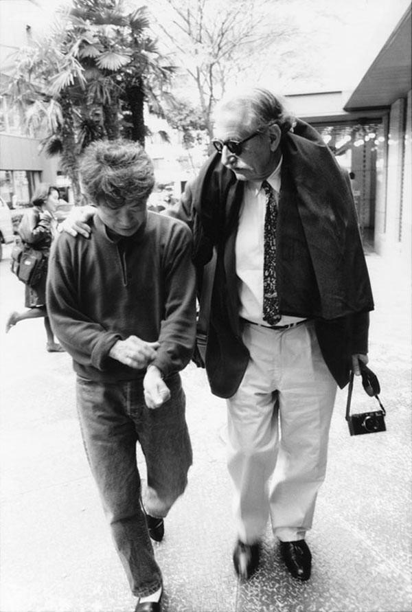 Shiro Kuramata and Ettore Sottsass, 1990, Japan. Photo by Takayuki Ogawa.