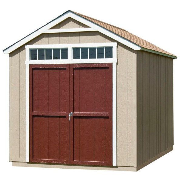 The Handy Home Products Majestic shed would be the foundation for our backyard project.