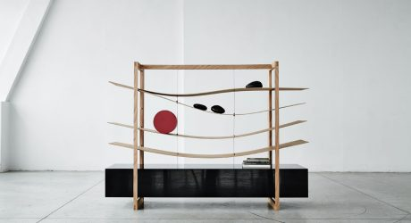 Mizu: A Transformable Piece with Fluid, Adaptable Shelves