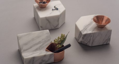 Santa Clara: Marble and Copper Organizers