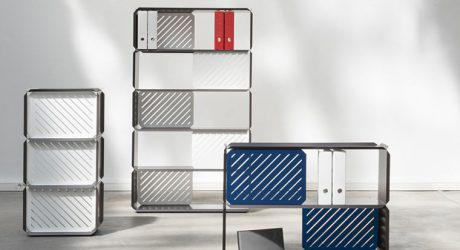 PLANE: Modular Shelves Made of Folded Sheet Steel