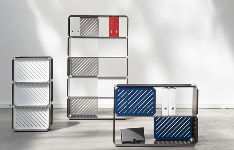 PLANE: Modular Shelves Made of Folded Sheet Steel