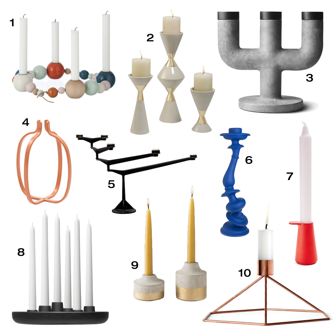 modern candle holders to complete your table centerpiece  -  modern candle holders to complete your table centerpiece