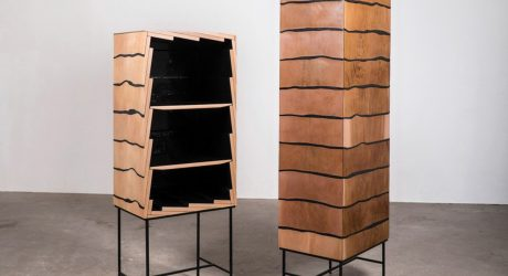Cedar Wood and Marble Resin Blend Together in the Fuse Cabinet