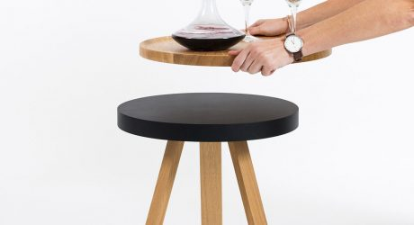 Batea: A Side Table with a Serving Tray