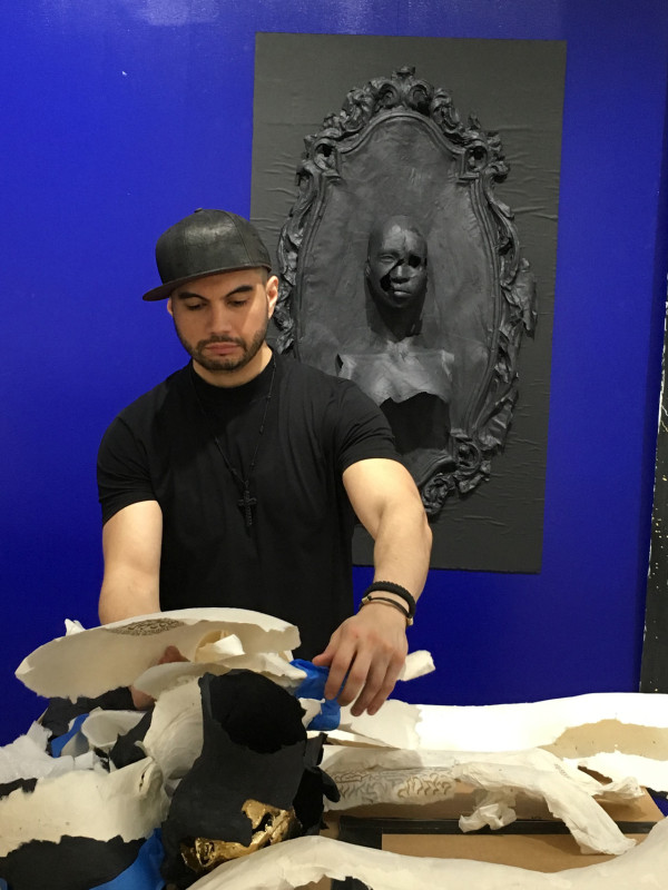 Aerosyn-Lex Mestrovic working on paper sculptures