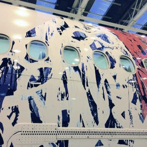 A Gallery in the Sky:  JonOne x Air France