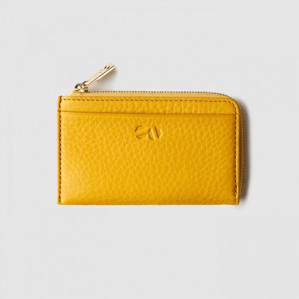 octovo-womens-nyc-zip-card-wallet-leather-yellow-front_1_2