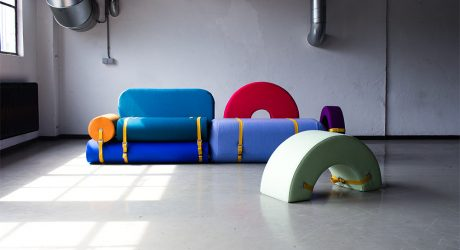 Colorful Foam Blocks to Configure Various Living Room Setups