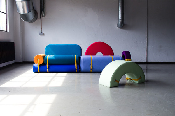 Colorful Foam Blocks to Configure Various Living Room Setups