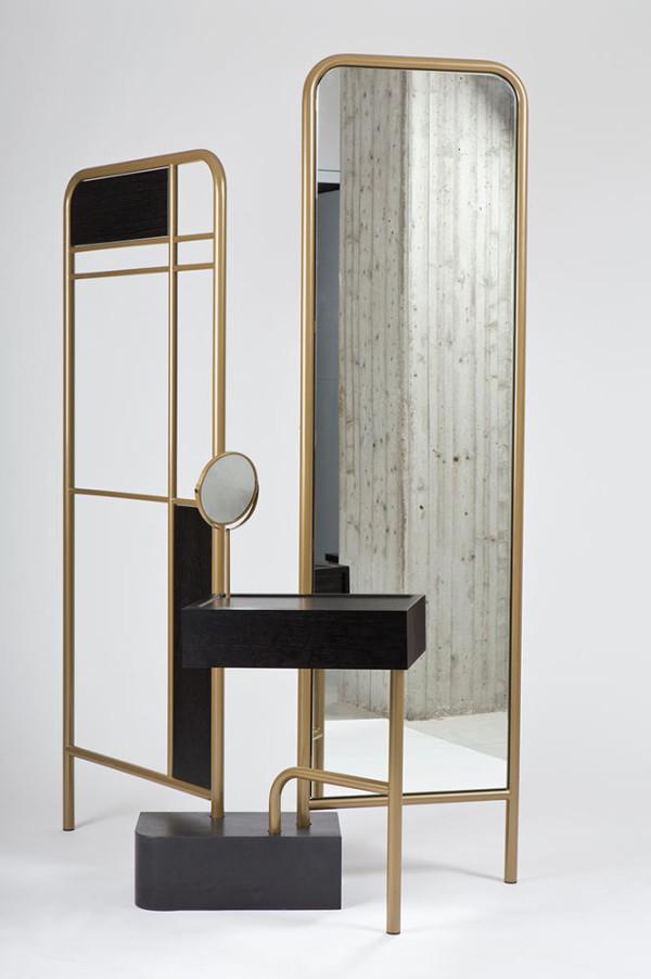 Bialik a set of dressing room furniture design milk for Dressing unit design