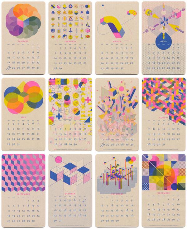 Calendar Design Of : Modern calendars for design milk