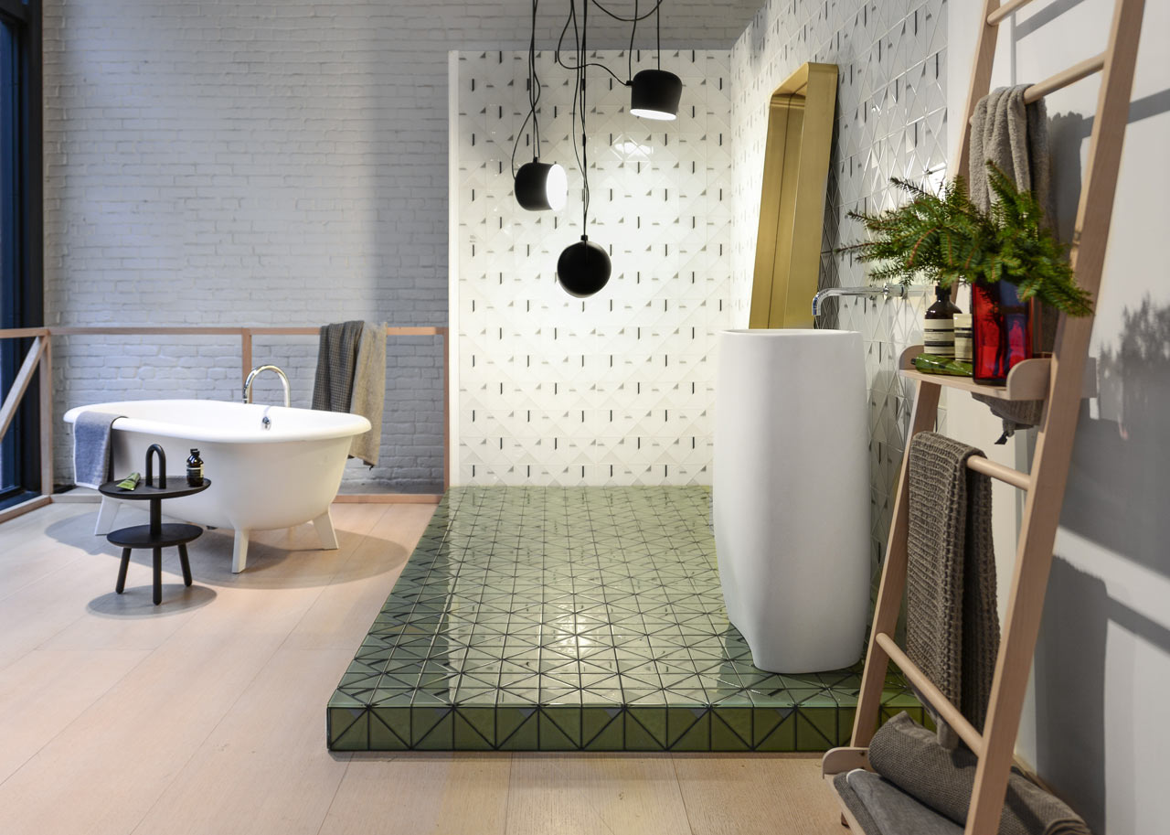 Falken Reynolds Interiors Designed a Display with Familiar Tiles ...