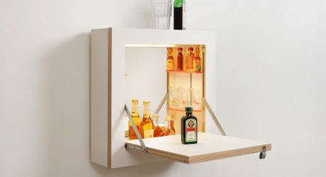 SCHMINKTÄNK: A Space Saving, Vanity/Bar Cabinet