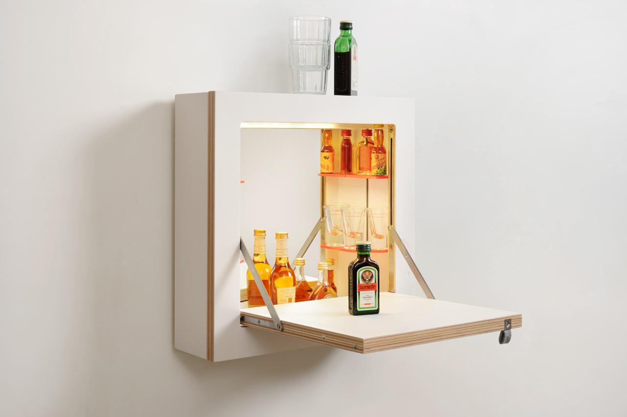 a space saving vanitybar cabinet  design milk - schminktÄnk a space saving vanitybar cabinet