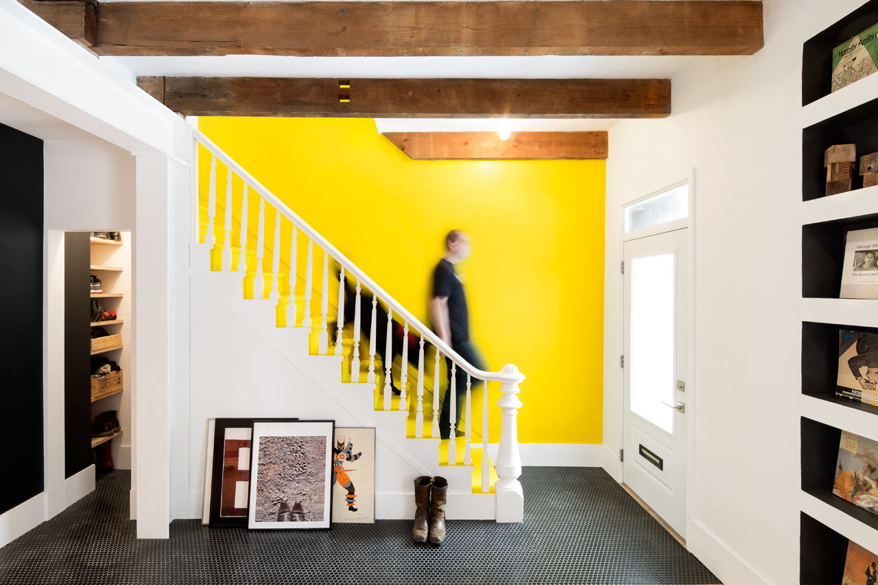 Row House Gets Whimsical, Industrial Makeover - Design Milk