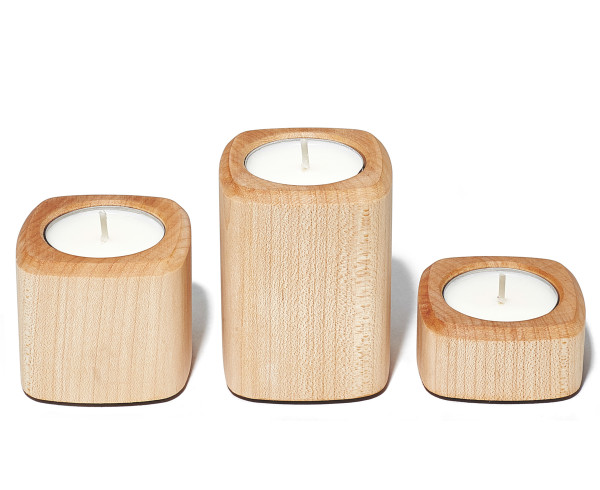 Grovemade - Tabletop Collection - Maple Candleholders