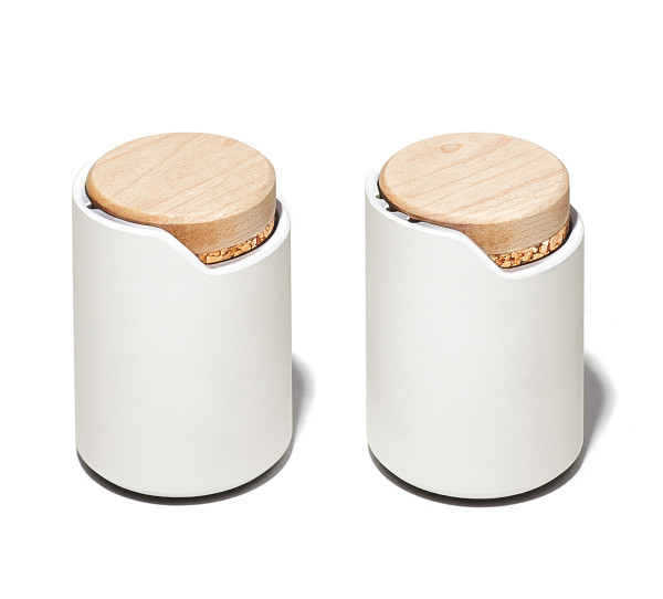 Grovemade - Tabletop Collection - White S&P Shakers