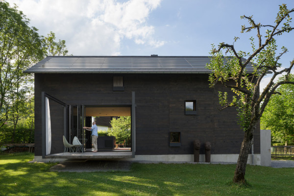 A narrow house in the bavarian mountains design milk for Bavarian home plans