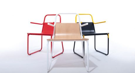 A Chair Born From Researching New Ways to Join Metallic Tubes