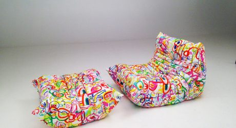 Ligne Roset Partners with Artist Jon Burgerman on Doodle Art Fabric