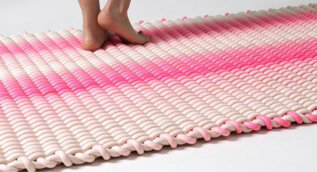 Indoor/Outdoor Rugs Made of Woven Silicone Cord