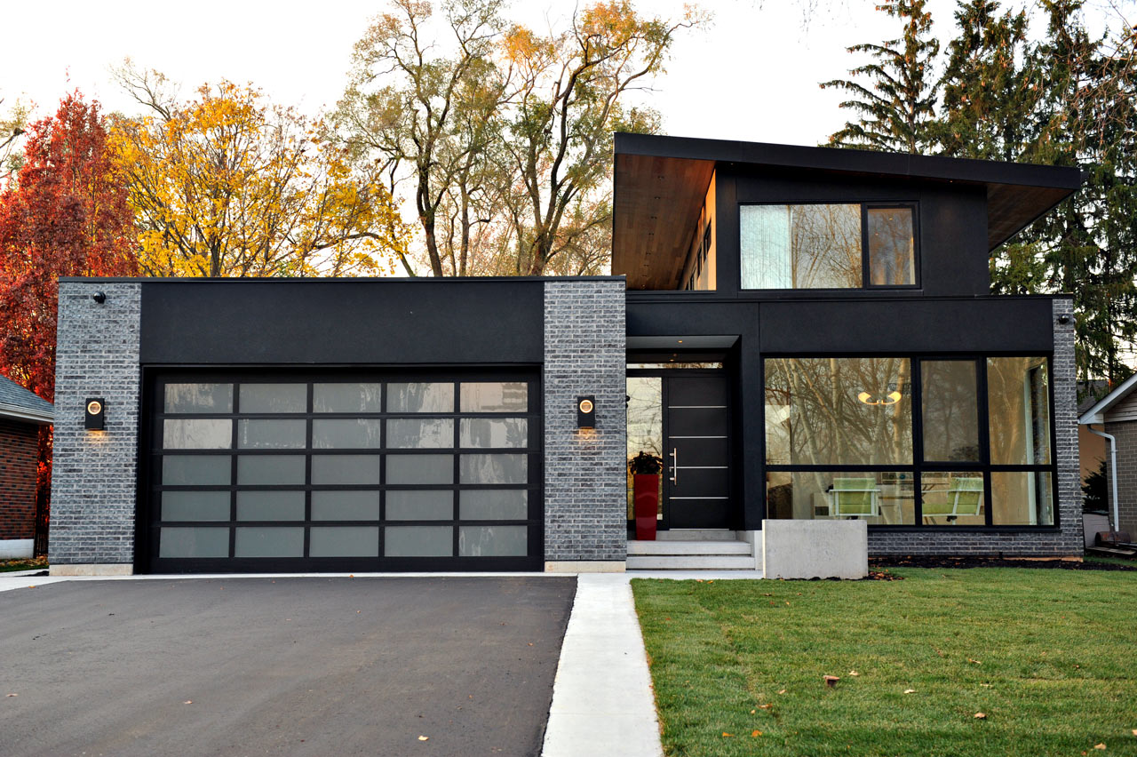 A sophisticated glass house in canada design milk for New home designs canada