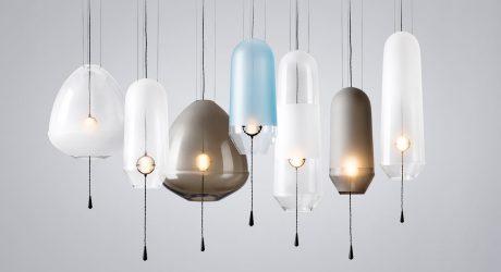 Limpid: Handblown Glass Lights from VANTOT