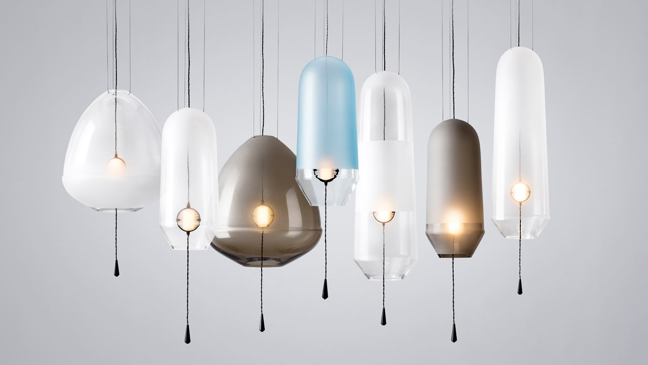 Limpid handblown glass lights from vantot design milk limpid handblown glass lights from vantot aloadofball