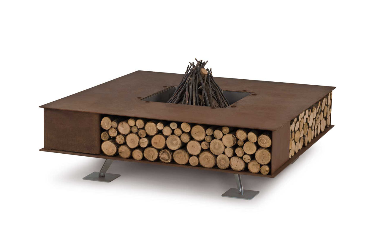 modern outdoor fire pits from ak design  design milk - modern outdoor fire pits from ak design