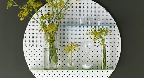Magnetized, Perforated Wall Shelves Display Your Stuff with Style