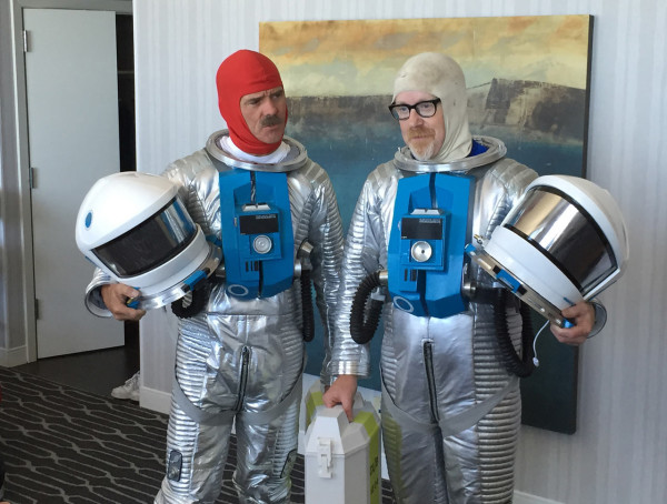 Adam Savage and Astronaut Chris Hadfield, photo by Phil Plait