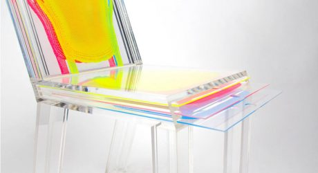 An Acrylic Chair You Can Customize With Printed Layers