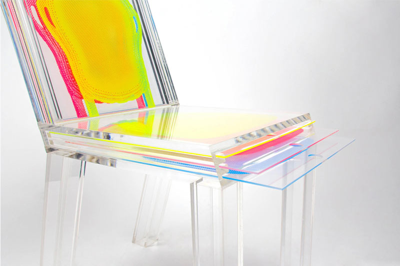 An Acrylic Chair You Can Customize With Printed Layers ...